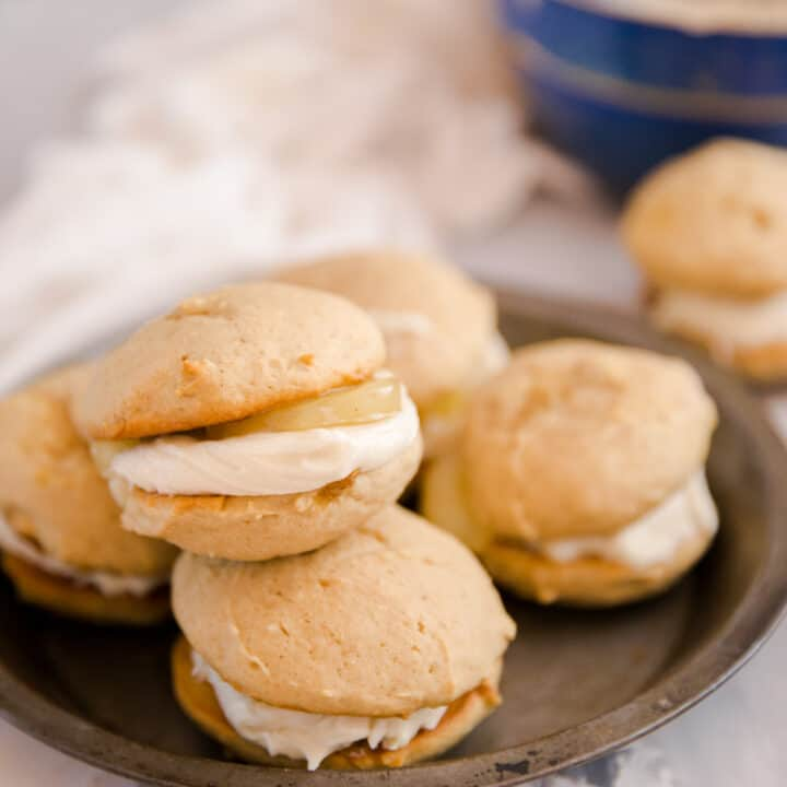 whoopie pie grouped on a plate
