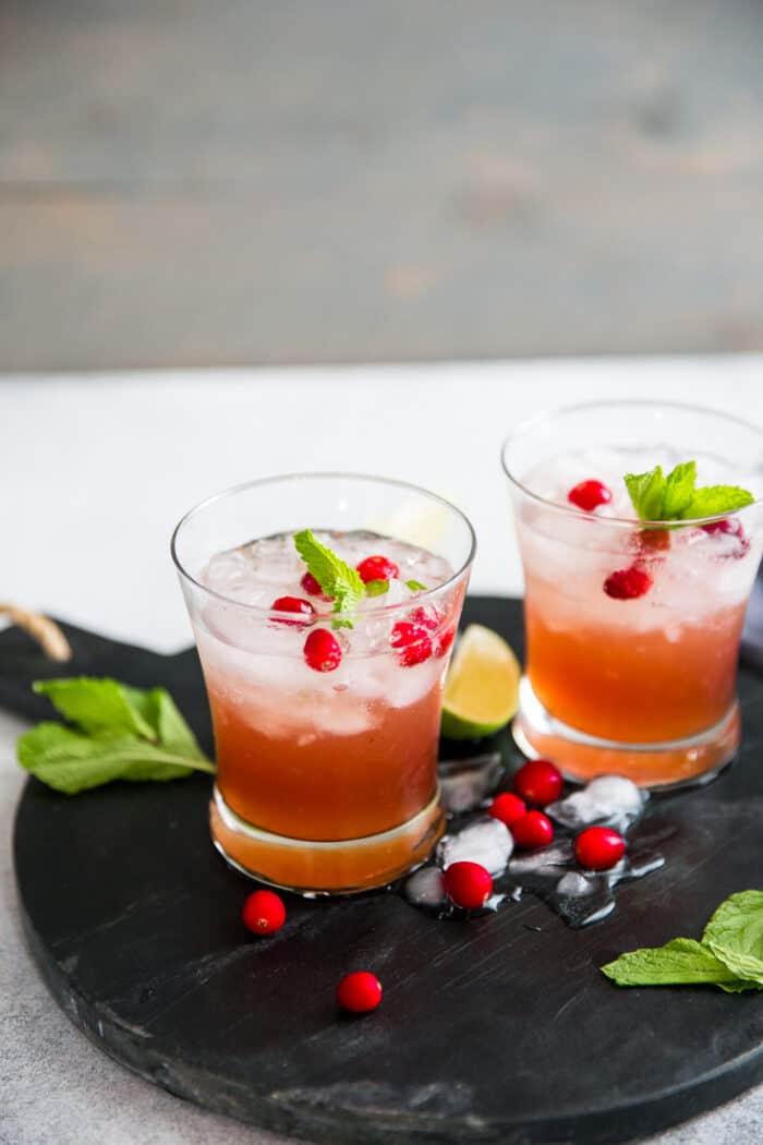 whiskey smash cocktail