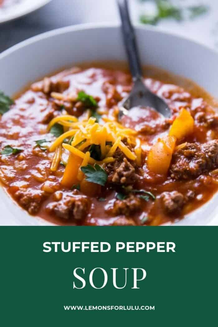 Stuffed pepper soup title image