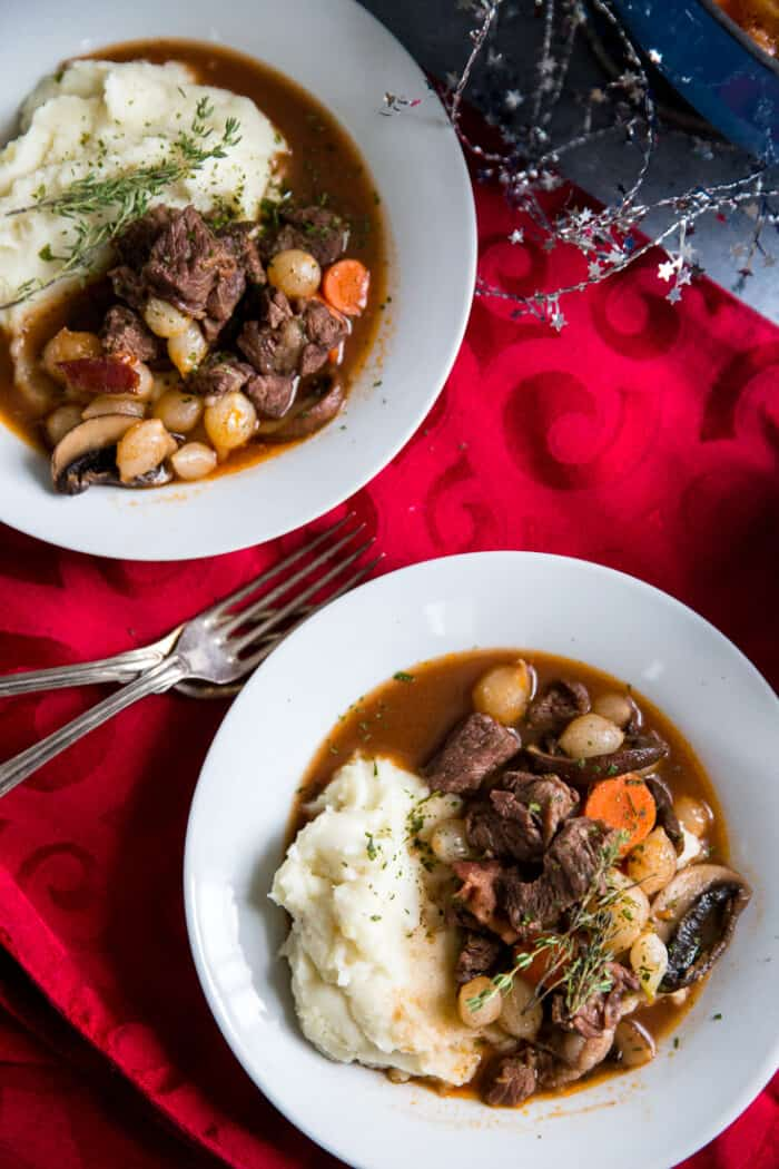 beef bourguignon two bowls