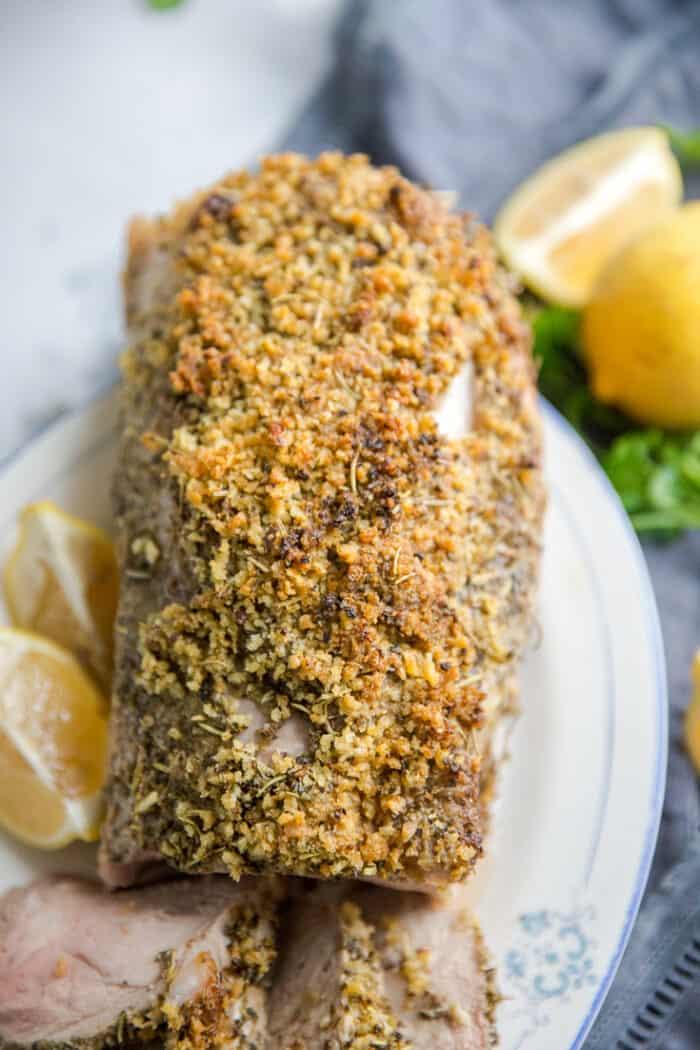 herb crusted pork roast
