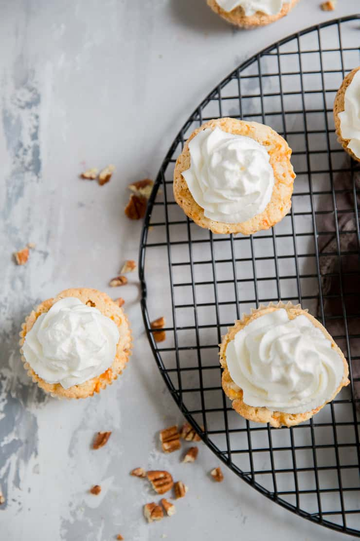 3 carrot cake cupcakes gluten free