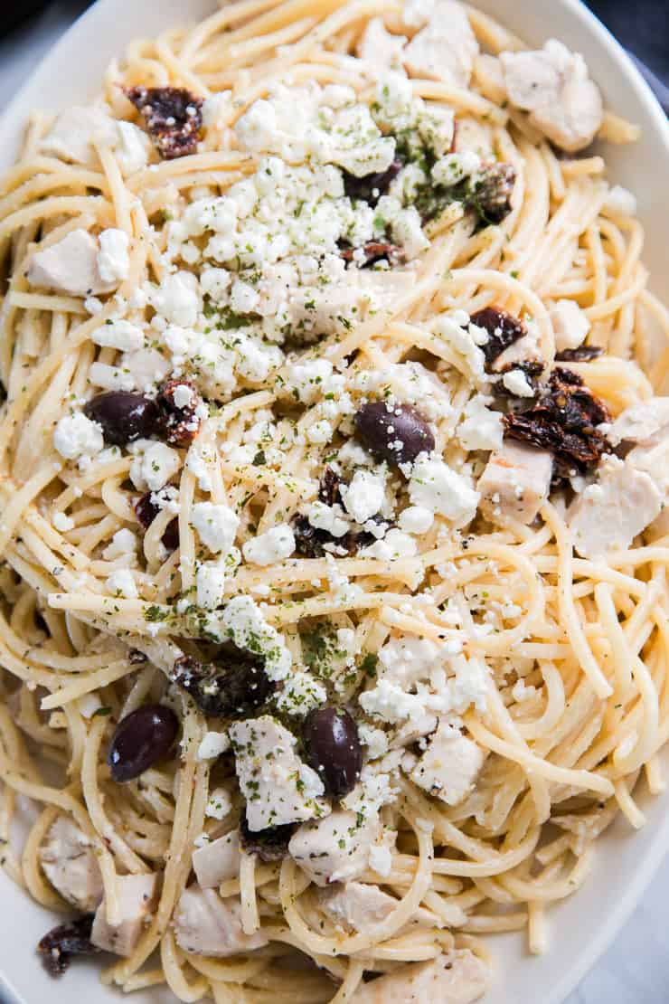 Mediterranean Pasta recipe with olives
