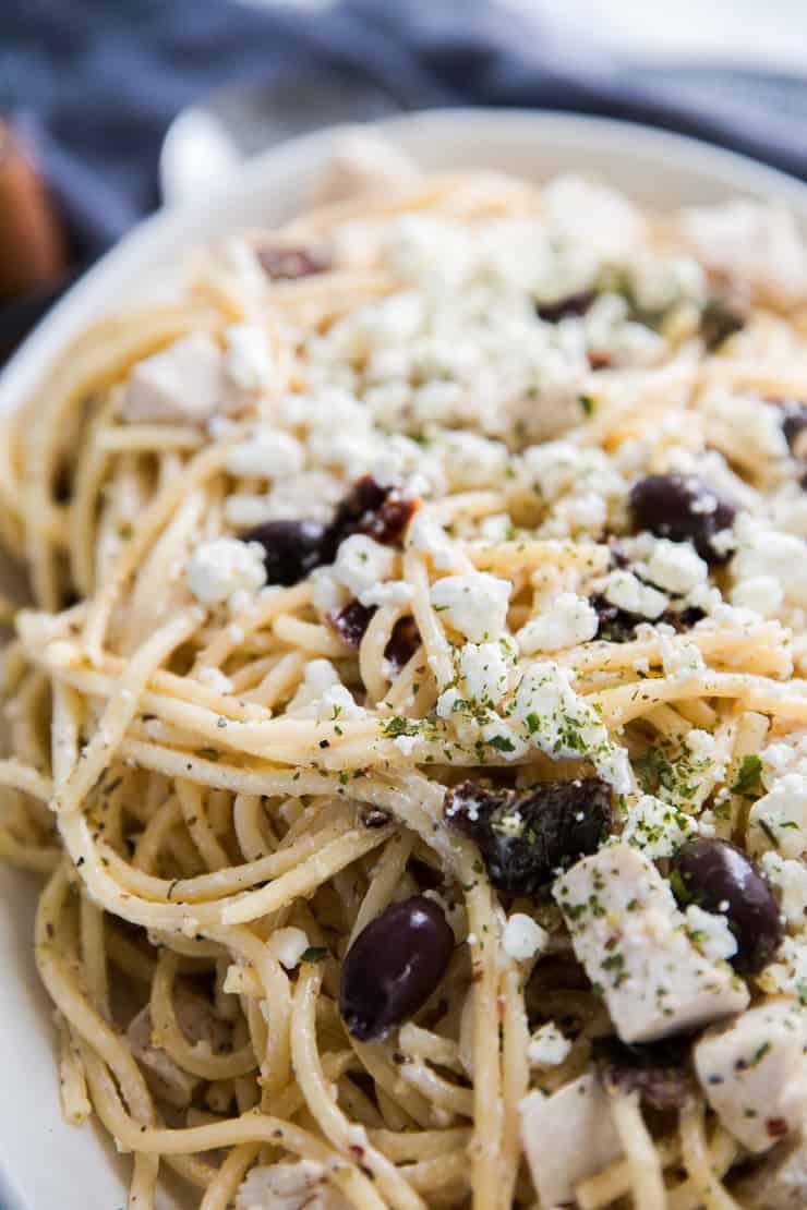 Mediterranean Pasta recipe white edish