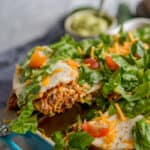 taco casserole being served