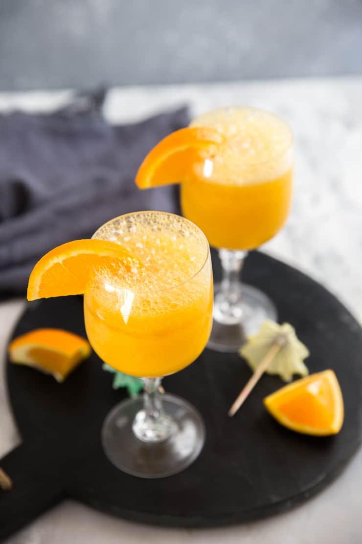 mango mimosa drink