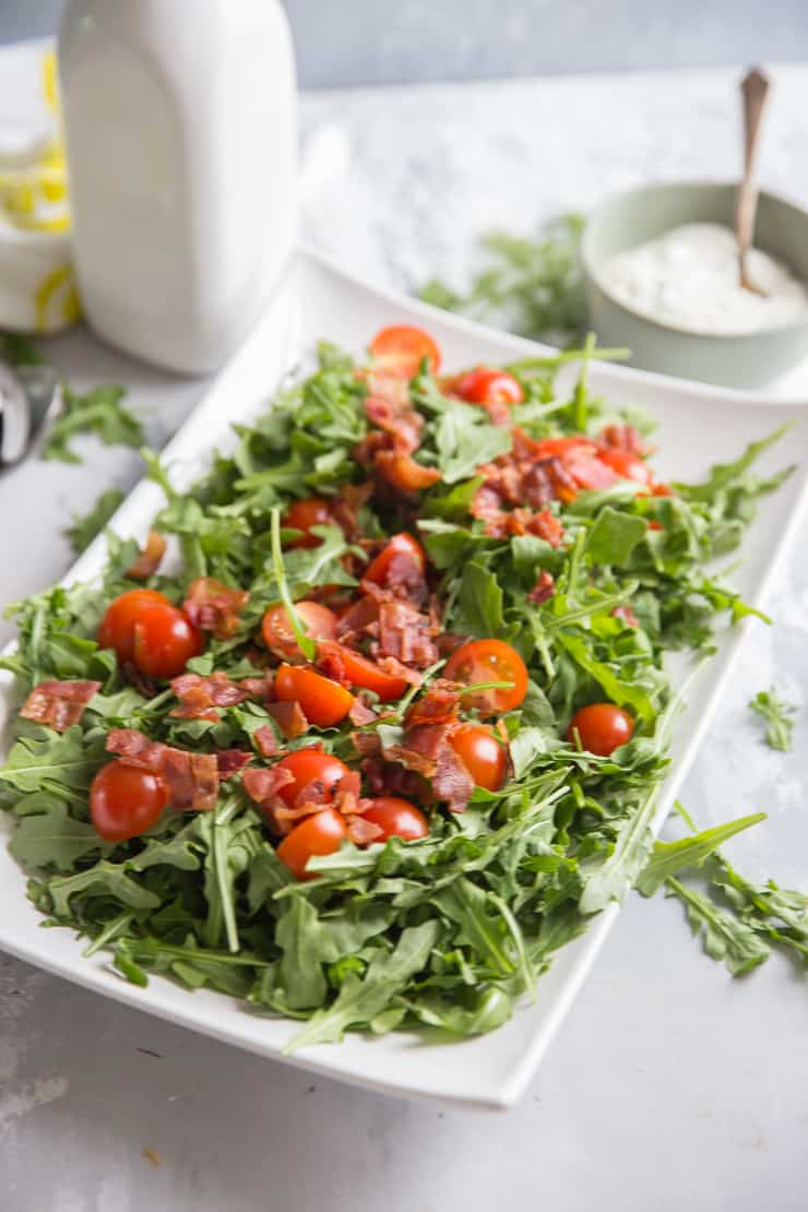 blt salad with dressing on the side