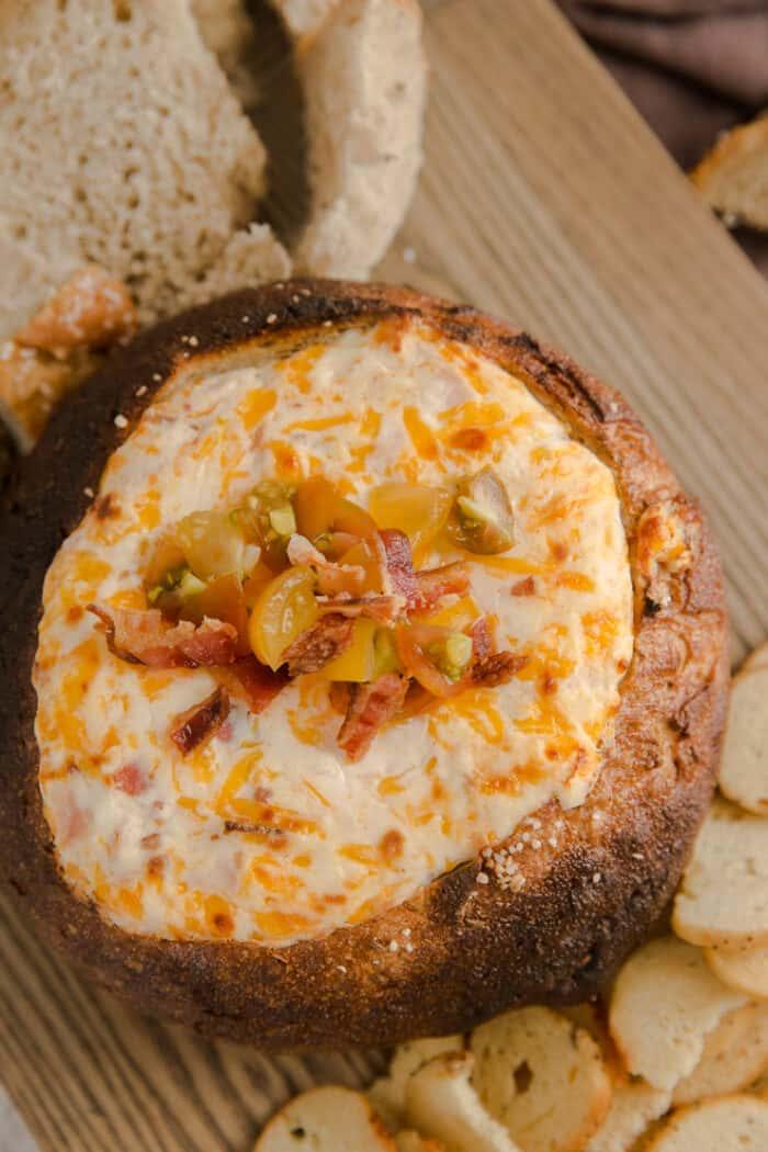 Hot Brown cheese dip