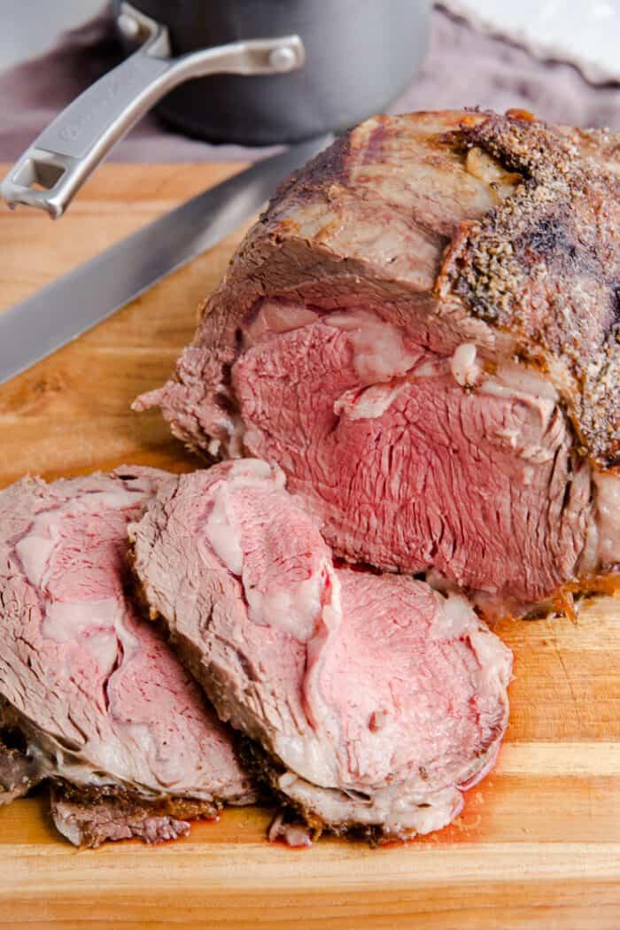 sliced prime rib recipe