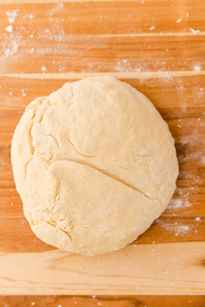 dough on a cutting board