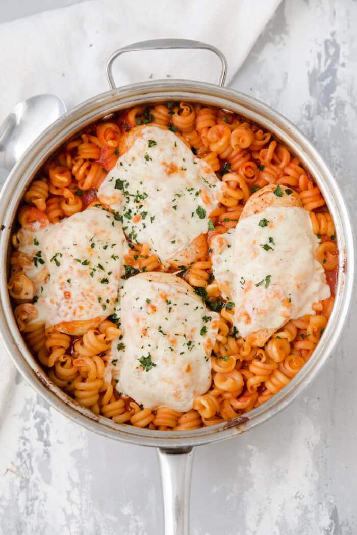 baked chicken Parmesan skillet
