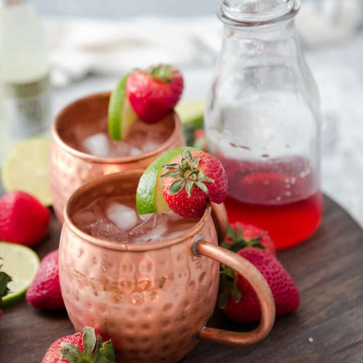 Strawberry Key Lime Moscow Mule