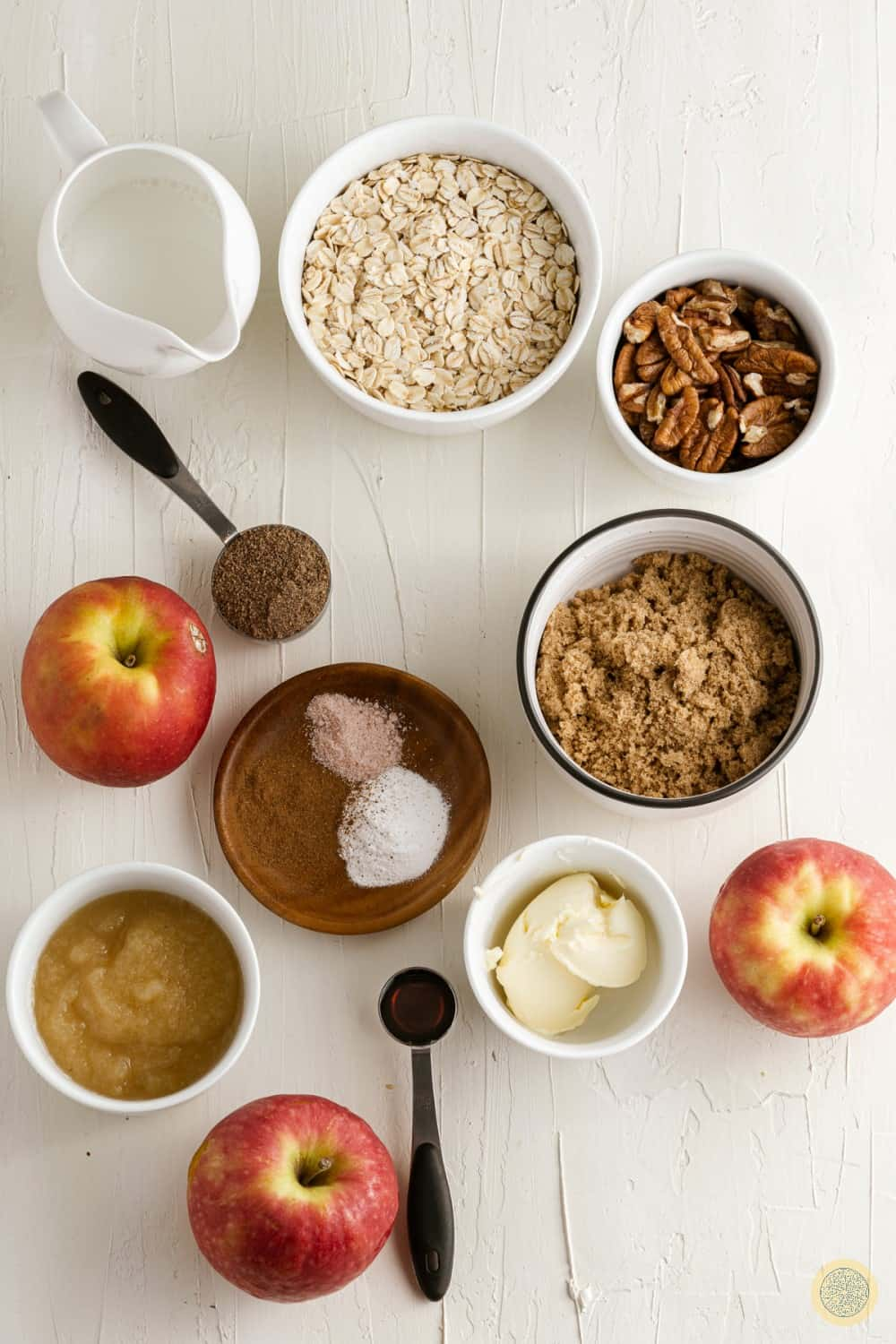Ingredients you'll need for baked oatmeal