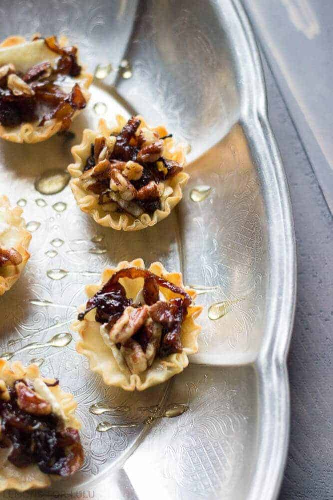 Baked Brie & Caramelized Onion Cups