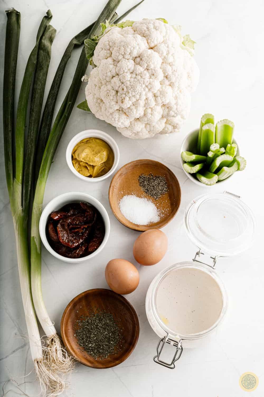 Cauliflower Potato Salad ingredients