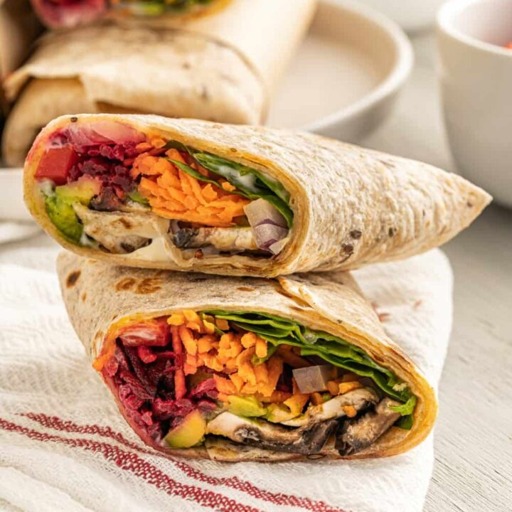 The Best Vegan Wrap Made with Raw Vegetables