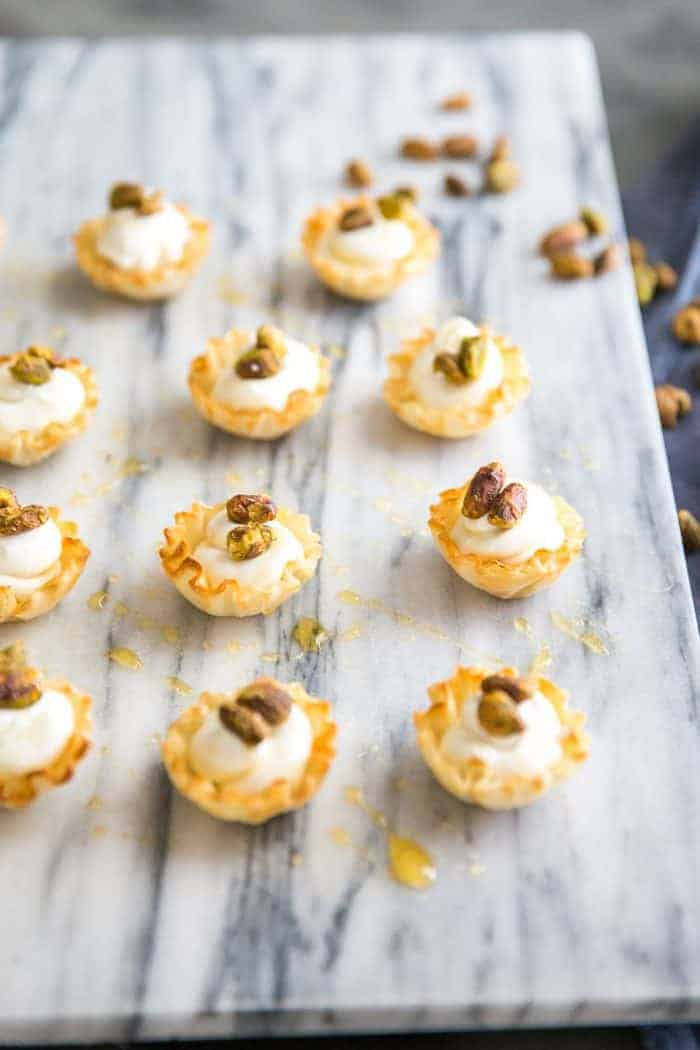 Honey Pistachio Whipped Goat Cheese Cups