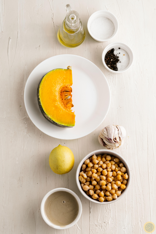 ingredients for the Pumpkin Hummus