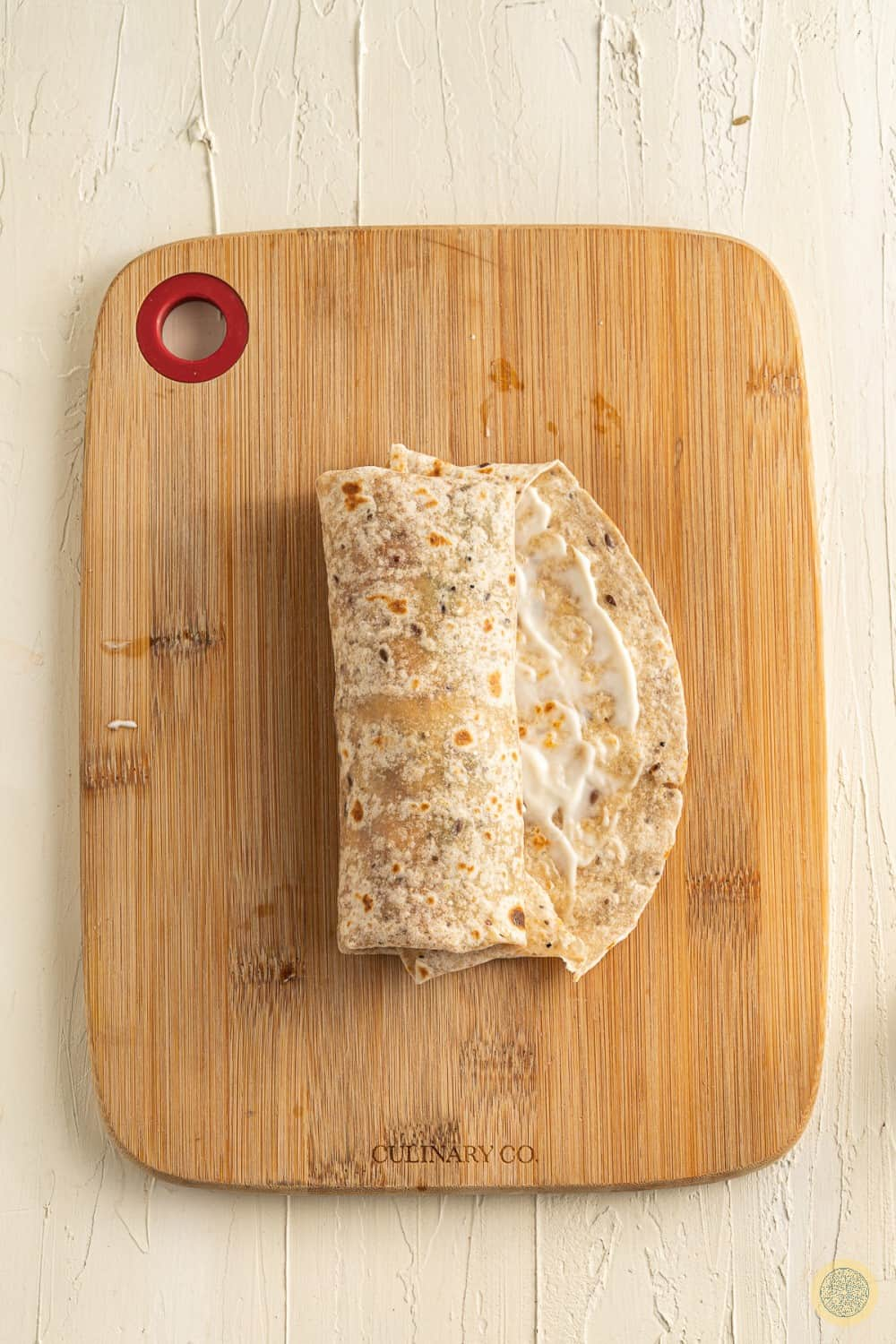 How to wrap the tortilla