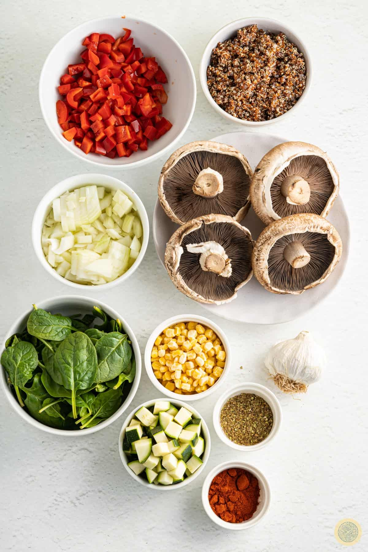 Vegan Stuffed Portobello Mushrooms Ingredients