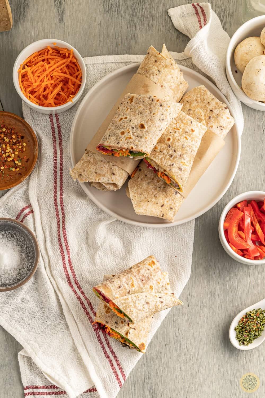 Low carb healthy tortilla wraps