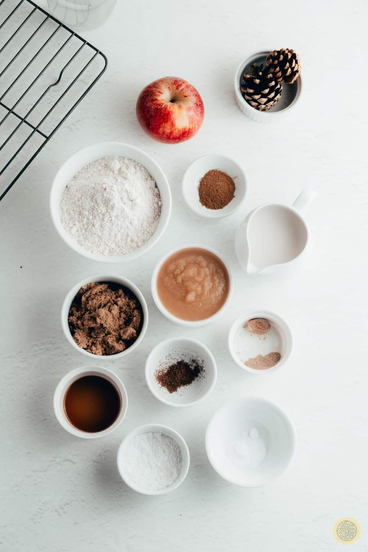 Vegan Applesauce Muffins Ingredients