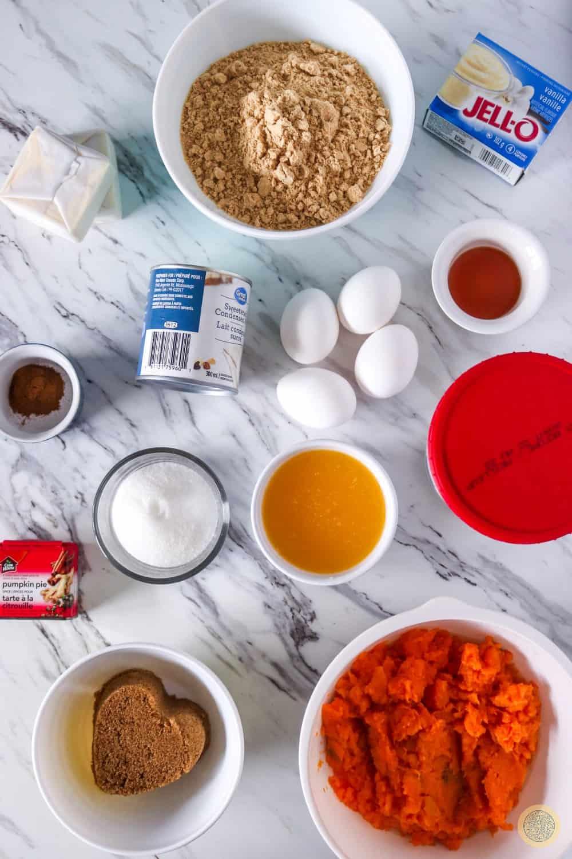 Sweet Potato Pie Bars Recipe Ingredients
